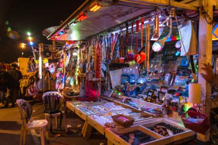 Crazy glowing things at Douliu Renwen Park Night Market