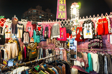 Night market fashion in Douliu