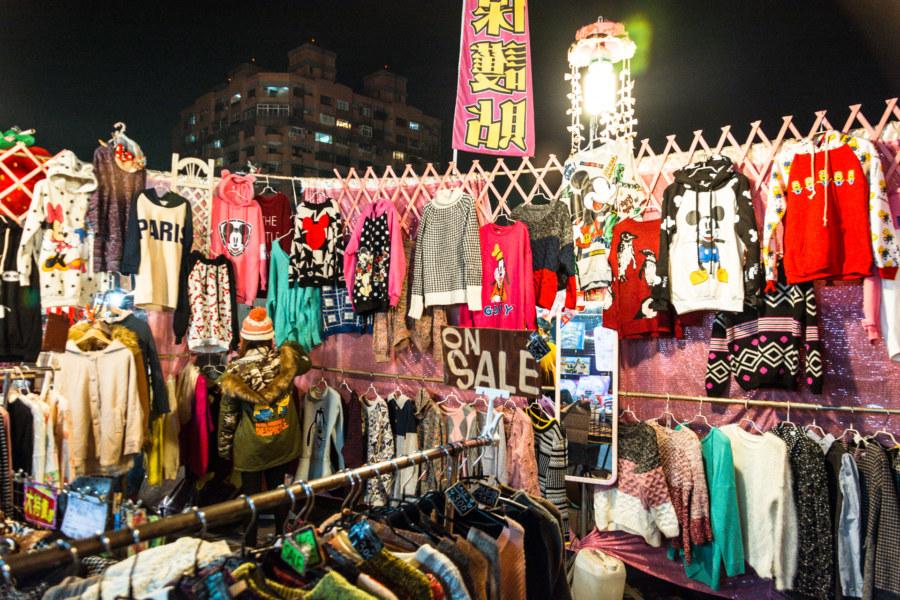 Night market fashion in Douliu