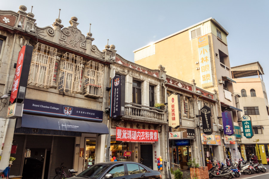 Japanese colonial facades in Douliu