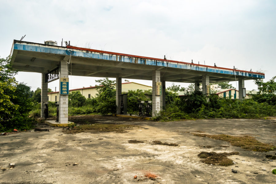 Empty Gas Station in Yunlin