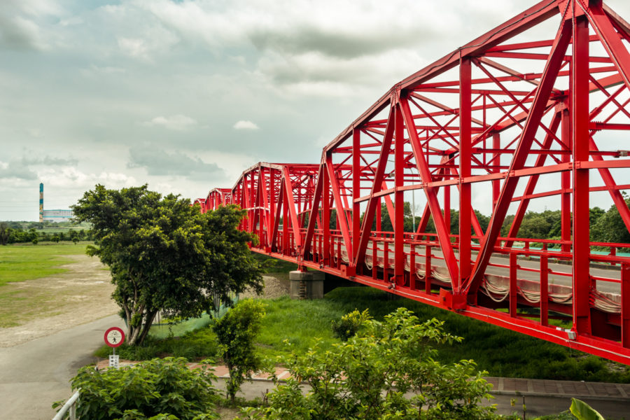 Red Steel Trusses of Xiluo Bridge