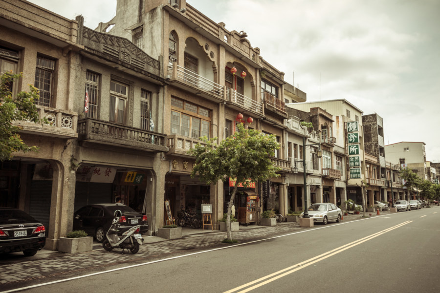Art deco facades of Yanping old street