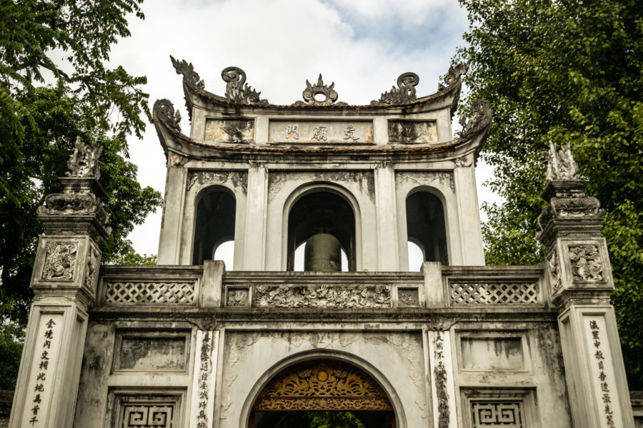 The gateway to the Confucius Temple in Hanoi