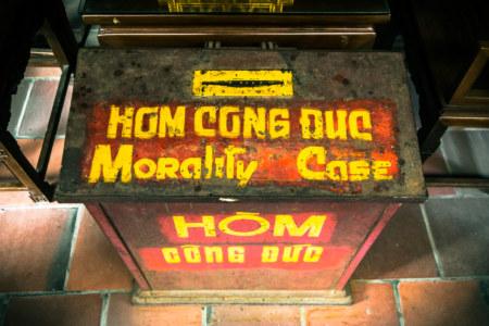 Morality case inside a Hanoi monastery