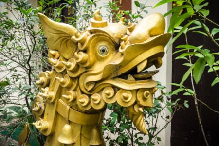 Vietnamese dragon in front of Đinh Tân Khai