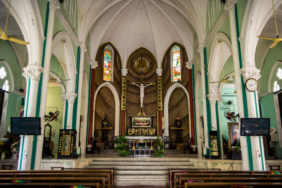 Inside St. Francis Xavier Parish Church, Cholon