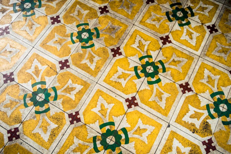 Thien Hau Temple Vintage Tile
