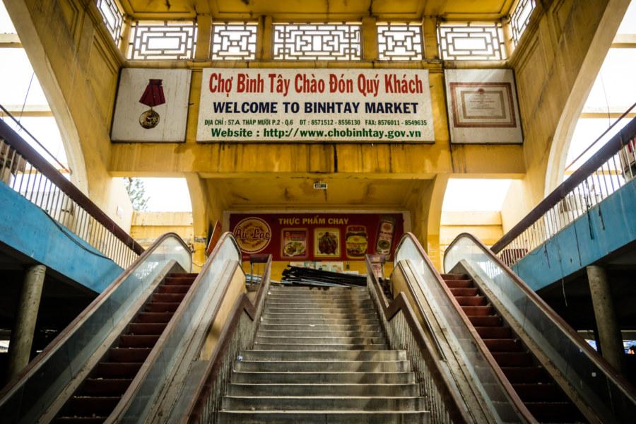 Inside Binh Tay Market