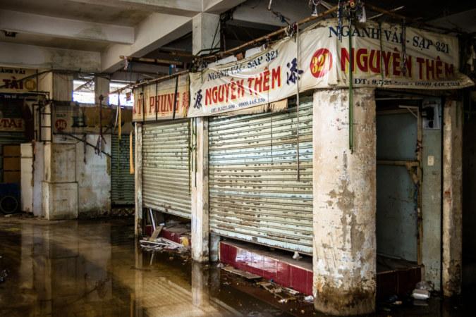 Looking right inside Binh Tay Market